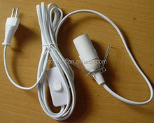 lamp cord with inline switch and E14 Lamp holder