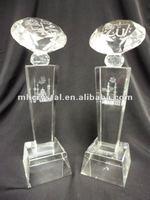 Engraved Makkah and Madinah Allahu Muhammad Diamond Trophy MH-J0472