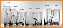 Clear glass vase creative styling kit lovers thick transparent wave pattern