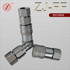 ZJ-FF China manufacture ISO16028 flat face type hydraulic quick coupler