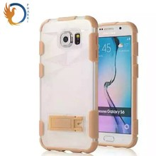 Transparent Kickstand Mobile Phone Case Combo Case for Samsung S6