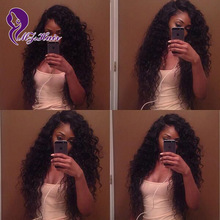 Glueless Lace Front Human Hair Curly Wigs For Black Women Side Part Remy Full Lace Human Hair Wig Cheap Perruque Bresilienne
