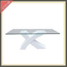 2014 mueble de lujo para sala, mesa de café con patas cruzadas con estilo americano CT013A