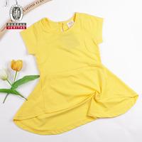 Fashion dress 2012 pure color short sleeve frozen elsa dress children