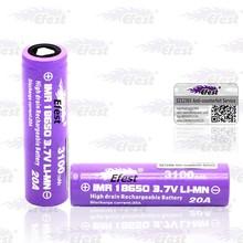 Popular item from Efest 18650 3100mah 3.7v battery new design Efest purple 18650 20A imr battery