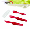 plastic disposable travel set cutlery of knife fork spoon YC550