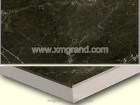 Dark Emperador Marble laminated floor, laminated flooring,composite marble