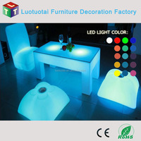 New design 48' 'PE led light dinner table party bar furniture coffee table cocktail table LTT-TC03