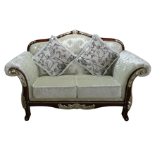 Living Room Furniture Type and Antique Appearance Fabric Lounge Chaise /Sofa Set