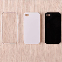 Factory wholesale hard plastic blank case for iphone 4