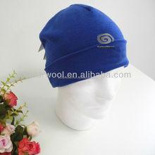 Superfine merino wool blue headwear