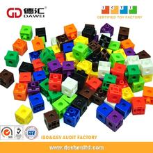 connecting cubes, interlocking cube toys, plastic interlocking block toys for kids