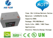 Lead-acid Replacement; Electric Vehicle; Scooter; Moped; Bike; Solar; Energy; Lifepo4 / Li-ion Battery Pack 24v50Ah