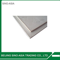 pvc gypsum ceiling board/ pvc gypsum ceiling/decorative vinyl laminated gypsum tile