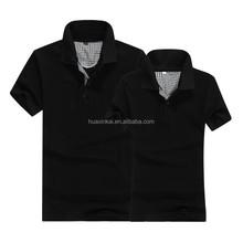 Popular hot sale stock black wholesale couple polo t-shirt