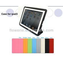 FL634 2013 Guangzhou leather case for ipad 3 factory wholesale low for ipad smart cover FOR ipad 3 frame case stock NO MOQ