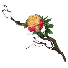 2015new coming artificial peony flowers for wall decoration with paper flower rattan