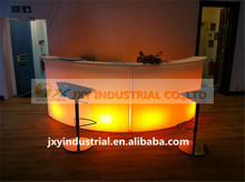 RGB rechargeable plastic led bar furniture PE material remote light, bar counter wine set