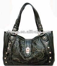 Printed flower elegant handbag