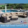 half round comfortable wicker rattan sofa set outdoor furniture