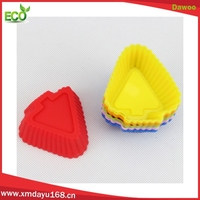 2016 Food grade christmas tree shape silicone cupcake tray mould