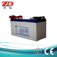 12v 120ah solar gel rechargeable battery AGM battery for UPS, deep cycle