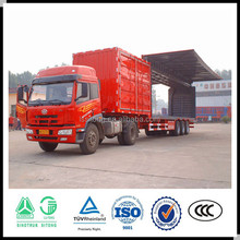 High quality 2/3 axles box semi trailer/ wing transport truck trailer /cargo semi trailer for sale