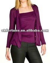 Ladies knitted spun silk cadigan--classical style