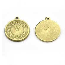 2014 wholesale new arrival gold plated anti-brass europe coin shape Zinc Alloy Charms A25025