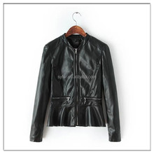 fashion woman dress winter PU leather jacket coat and motorcycles leather jackets and faux leather coat