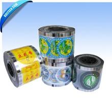 Aluminium foil lid printed film/ film roll for lid cover