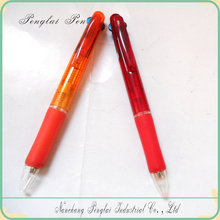 2015 Promotional plastic three color ink ballpoint pen