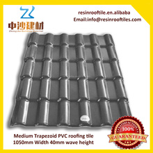 Cheap construction materials Spanish design resin roofing tile price