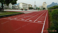 IAAF certificate Spray coat running track material
