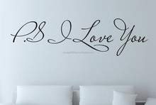 "Wall Quote Art Decal Vinyl Sticker Removable Home Decor ""P.S I Love You """