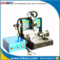 Best cnc machine for alloy wheels for okacc 3040 1500w 4 axis ball screw with usb port,cnc mold making machine