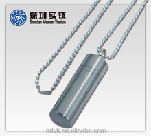 Titanium Waterproof Pill Case for Outdoor Camping & Hiking