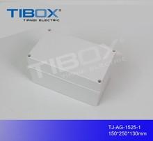 plastic outdoor electrical junction enclosure /abs waterproof box 150*250*130mm