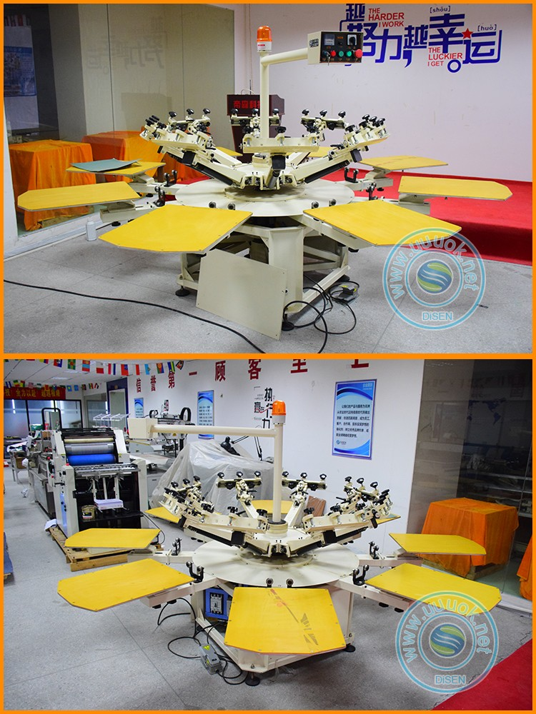 Automatic roll to roll 8 color t-shirt cylinder digital silk semi auto screen printing machine