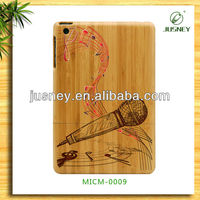 For ipad mini slim case made of real wood/bamboo