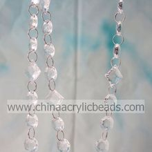 Wholesale 28MM&18MM Acrylic Ring Bead Chain Trim Assorted