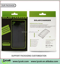 Solar panel efficiency,Mobile Charger,Waterproof Power Bank 8000mah With Real Capacity