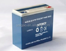 dry charged battery 6-DZM-20 dry motorcycle battery