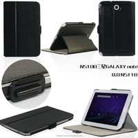 Alibaba Hot Selling Slim Elegant Stand Folding PU Leather Tablet Case For Samsung Note 8 N5100