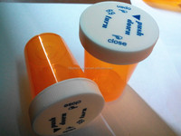 Cannabis pill containers Medical Pharmacy CRC cap Plastic Prescription push down and turn vial