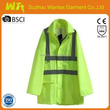 3M EN20471/343 hi vis wholesale alibaba newly 100% polyester safety fluo-yellow oil field work o parka/jackets