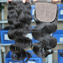Virgin Hair Silk Base Free Part Closure high Grade Body Wave Brazilian Hair Lace Closure with Baby Hair
