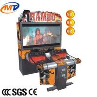 New Rambo Coin operated simulator/ arcade gun shooting game machine for adults