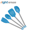 Silicone spoon with stainless steel handle/ / heat resistant non-stick silicone kitchen Tools