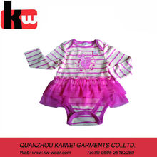 2014 Top Quality Fashion Style Baby Girls Wear Winter Baby Romper Wholesales with Lace Design